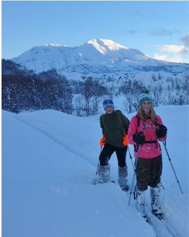 Skiing the Hummocks Trail
